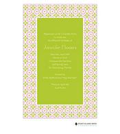 In Full Bloom Green Invitation