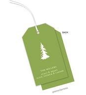 Cilantro Vertical Personalized Holiday Hanging Gift Tag