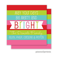 Merry & Bright Personalized Holiday Enclosure Card