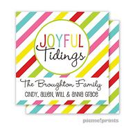 Joyful Tidings Personalized Holiday Enclosure Card
