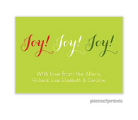 Joy! Joy! Joy! Personalized Holiday Sticker