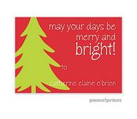 Big Tree Poppy Personalized Holiday Sticker