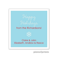 White Border Pool Personalized Holiday Sticker