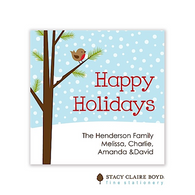Chilly Chirpin' Holiday Flat Enclosure Card