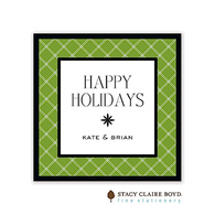 Twin Trellis Green Holiday Flat Enclosure Card