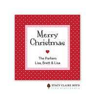 Jolly Holiday Red Holiday Flat Enclosure Card