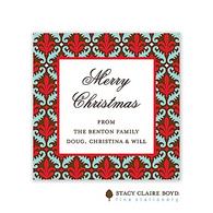 Fleur de Lovely Red Holiday Gift Sticker