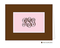 Classic Statement Pink Personalized Folded Notecard