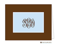 Classic Statement Blue Personalized Folded Notecard