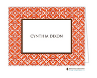 casablanca personalized folded notecard - Personalized Folded Note Cards