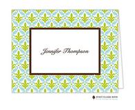 Arabesque Personalized Folded Notecard