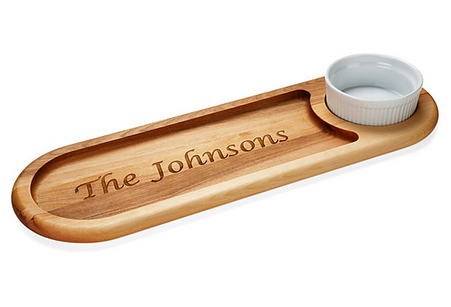 Personalized Everyday Dip & Serve Board, Name