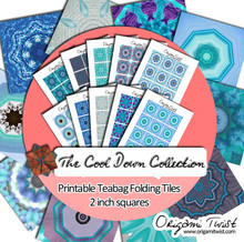 The Cool Down Printable Teabag Folding Tiles 10 Page Collection