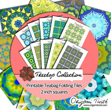 Treetop Printable Teabag Folding Tiles 10 Page Collection