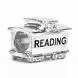 Sterling Silver Reading Railroad charm. Fits Pandora bracelet.