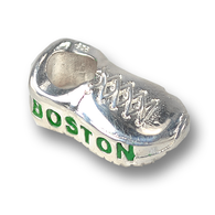 Sterling silver Boston Strong sneaker charm, Made in the USA