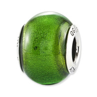 Green Glass Bead. Compatible with most Pandora Jewelry