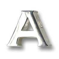 "Sterling silver ""A"" charm  for Alvernia University. Made in the USA"