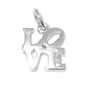 LOVE sterling silver pendant necklace charm Philadelphia