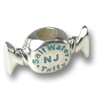 Sterling silver Salt Water Taffy charm. Made in the USA