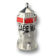 Cape May NJ lighthouse charm, made in the USA