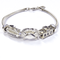 Sterling Silver Baltimore Charm Bracelet Set
