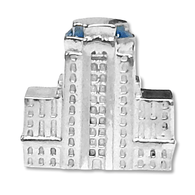 Sterling Silver Berks County Courthouse charm. Pandora Compatible