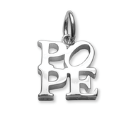 Pope sterling silver pendant necklace charm