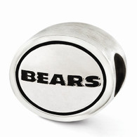 Chicago Bears sterling silver NFL bead