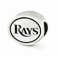 Tampa Bay Rays sterling silver bead
