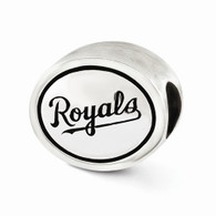 Kansas City Royals silver bead charm