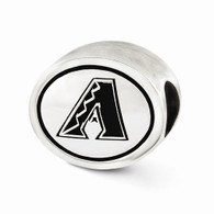 Arizona Diamondbacks sterling silver MLB bead