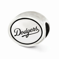 Los Angeles Dodgers bead, sterling silver and Pandora compatible