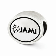 MLB Miami Marlins bead charm in sterling silver