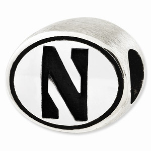 Sterling Silver Northwestern University Wildcats Bead is compatible with most Pandora-type charm bracelets