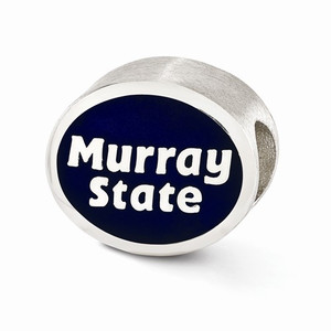 Sterling silver Murray State Racers bead is compatible with most Pandora type charm bracelets.