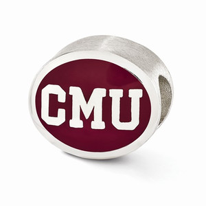 Sterling silver Central Michigan University bead