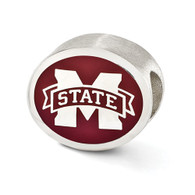 Sterling silver Mississippi State University Bulldogs Bead charm.
