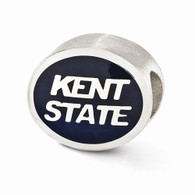 Sterling silver Kent State bead. Pandora compatible
