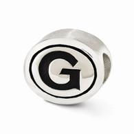 Sterling silver Georgetown University bead is Pandora compatible.