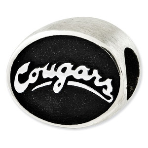 Sterling silver Washington State University bead fits most Pandora & Trollbead type charm bracelets