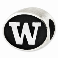 Sterling Silver University of Washington bead is Pandora compatible