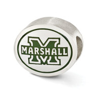 Sterling silver Marshall University bead fits Pandora