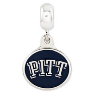 Sterling silver University of Pittsburgh charm