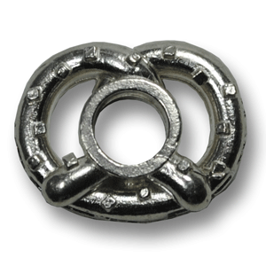 Sterling Silver Bell Alley Pretzel Charm Reading Pa City Charm Co