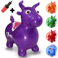 Benny the Jumping Bull (purple). A Waliki original.