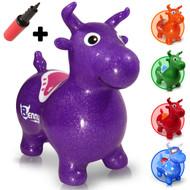 Benny the Jumping Bull (purple). A Waliki original.