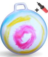 Hippity Hop Ball Adult Size (hurricane rainbow)