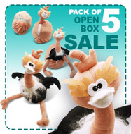 Rich the Ostrich Egg: Pack of 5 Reversible Plush Eggs