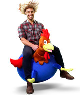 Ray the Rooster: Adult Size Plush Ball Hopper